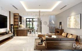 Thiết kế nội thất biệt thư Ciputra – Không gian gần gũi với thiên nhiên